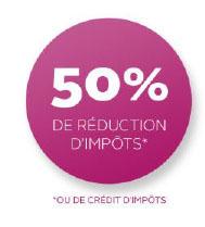 50% de réduction d'impots